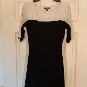 White and black Chaps dress